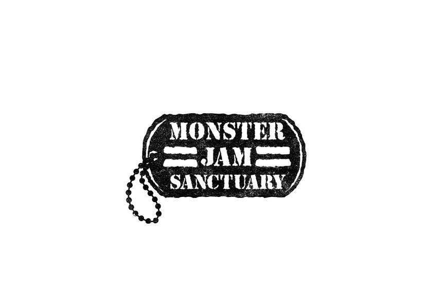"Logo design for Bishop Lamont's record label, ""Monster Jam Sanctuary."""