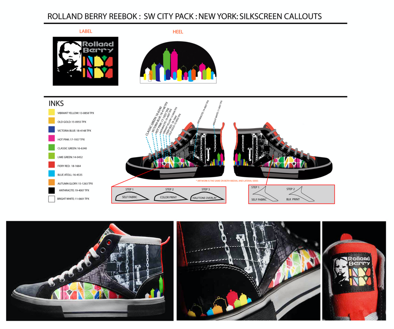 Technical design for Rolland Berry: Reebok (City Pack: New York)