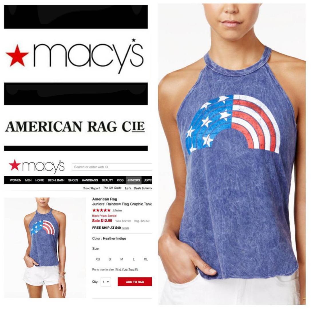 Women's graphic development for American Rag Cie for Macy's