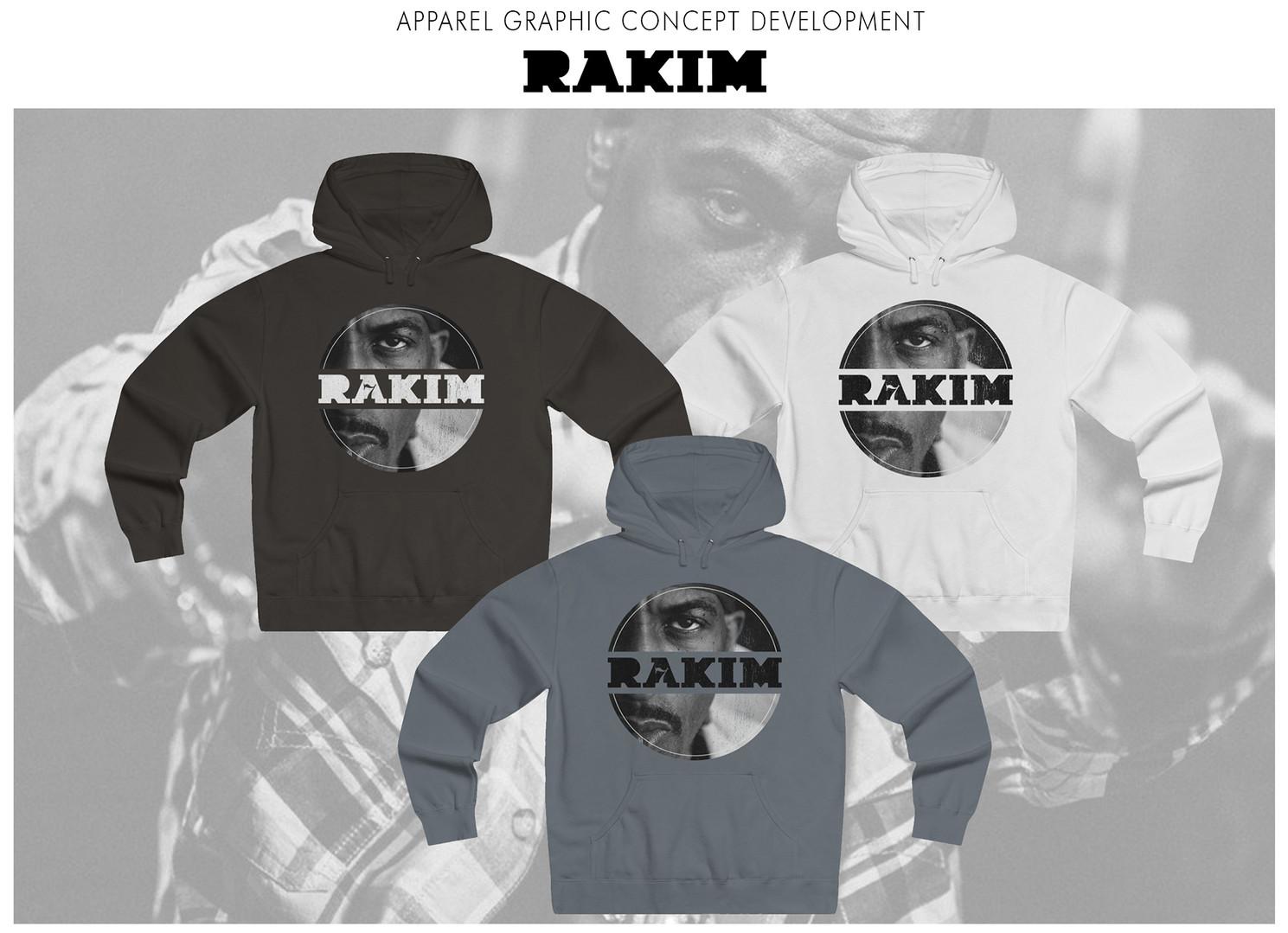 Apparel graphic concept development for recording artist Rakim.