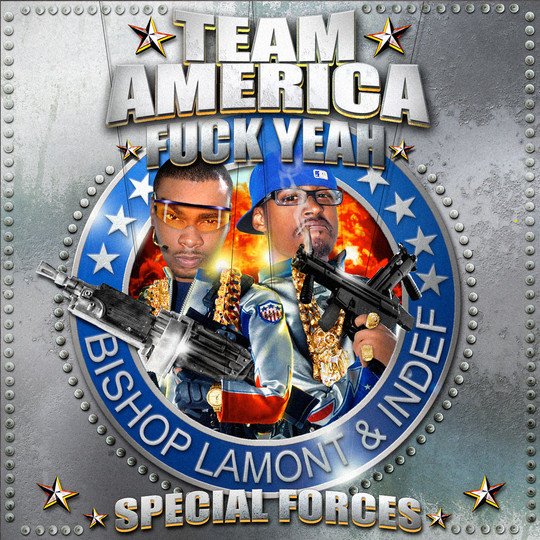 """Cover art for recording artist Bishop Lamont's street album, """"Team America FUCK YEAH! Special Forces"""""""