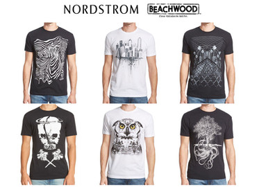Art Direction & Graphic illustration for Beachwood brand exclusive for Nordstrom.
