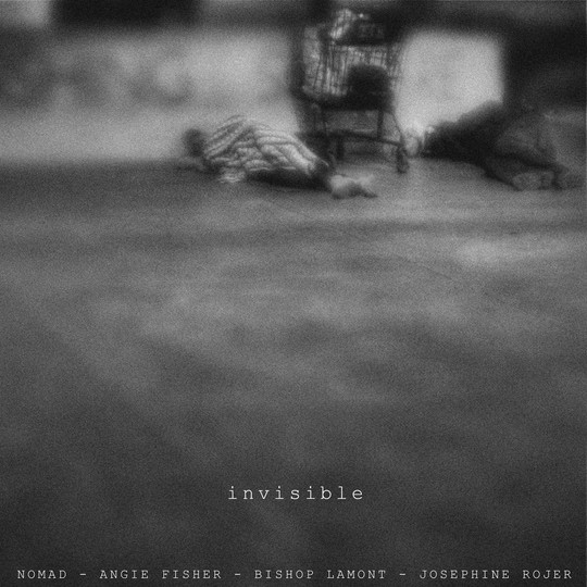 """Single cover art design for recording artist Bishop Lamont ft. Nomad, Angie Fisher and Josephine Rojer: """"Invisible"""""""
