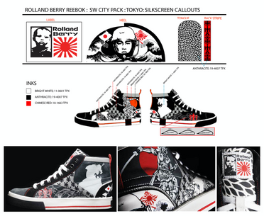 Graphic development & technical design for Rolland Berry: Reebok (City Pack: Tokyo)