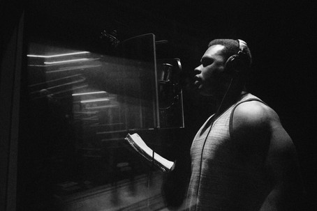 """In studio behind the scenes with recording artist Bishop Lamont for """"The Pharmacy"""" with Dr Dre.    © """"CAPS"""" 2020. All rights reserved. Unauthorized use is strictly prohibited."""