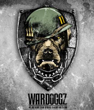 "Graphic development for recording artist Bishop Lamont's brand, ""Wardoggz."""