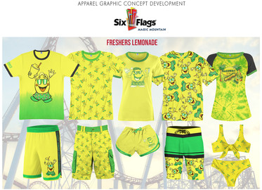 """Merchandised """"Freshers Lemonade"""" collection inspired by the popular refreshment stand located within Six Flags."""