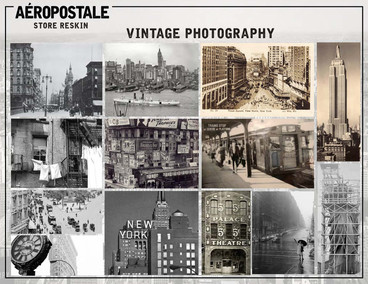 Merchandised visual inspiration board for in-store photography wall hangings