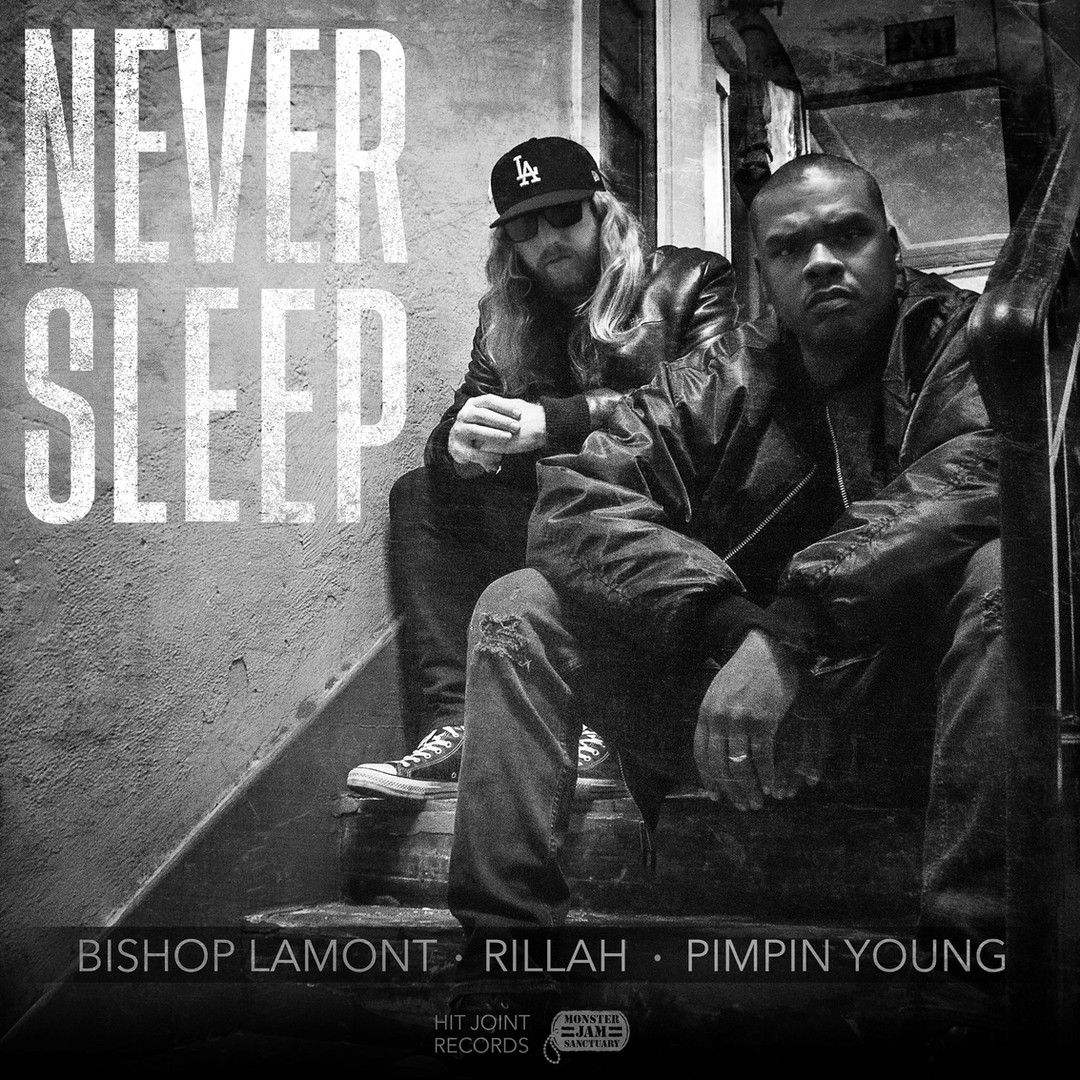 Single cover art design & photography for recording artists Bishop Lamont and Rillah.