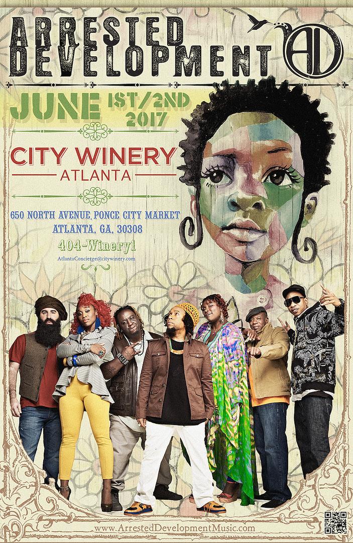 Poster design for Arrested Development show, 2017.