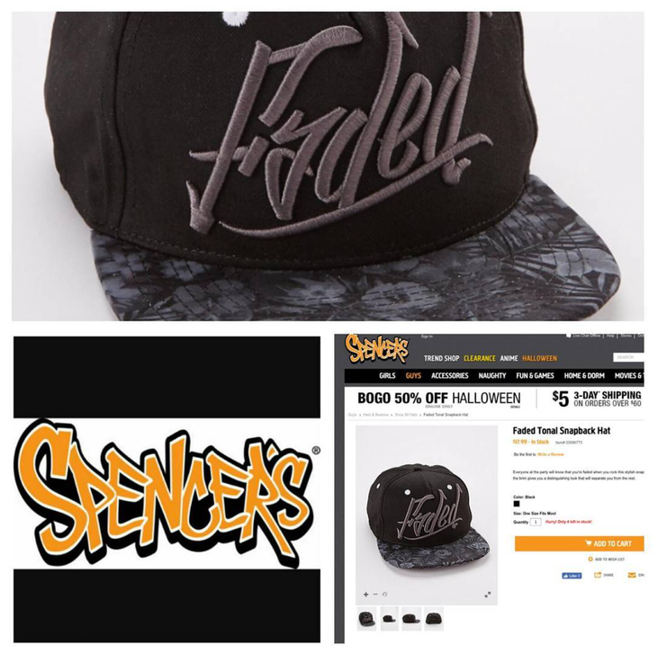 Headwear development for Spencer's, sold in store and online.