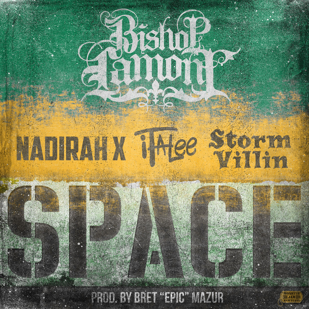 Single cover art for recording artist Bishop Lamont.