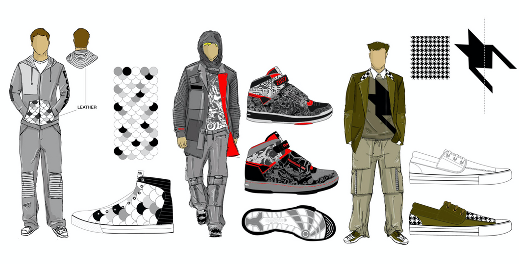 Concept illustration for Rolland Berry: Reebok lifestyle product