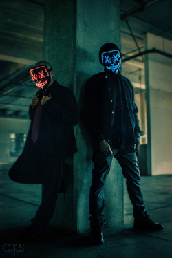 """Photoshoot with recording artist duo JON E DEF for their debut album, """"ANONYMOUS"""".   © """"CAPS"""" 2021. All rights reserved. Unauthorized use is strictly prohibited."""