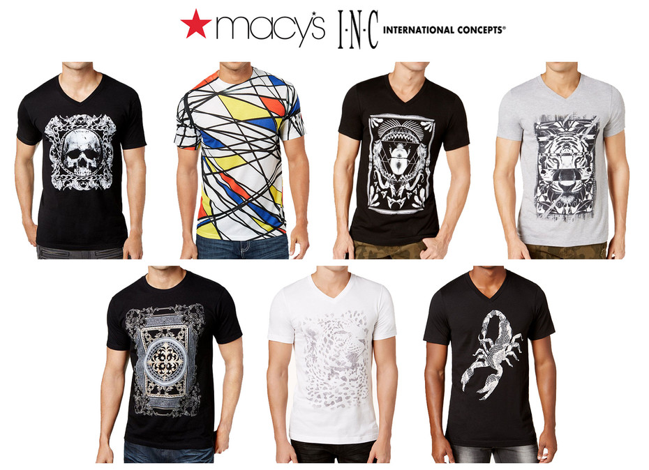 Graphic illustration for INC: International Concepts brand sold at Macy's.