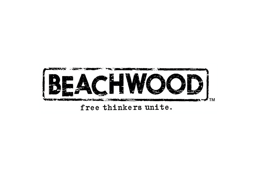 Logo design for clothing brand Beachwood, sold exclusively to Nordstrom's.