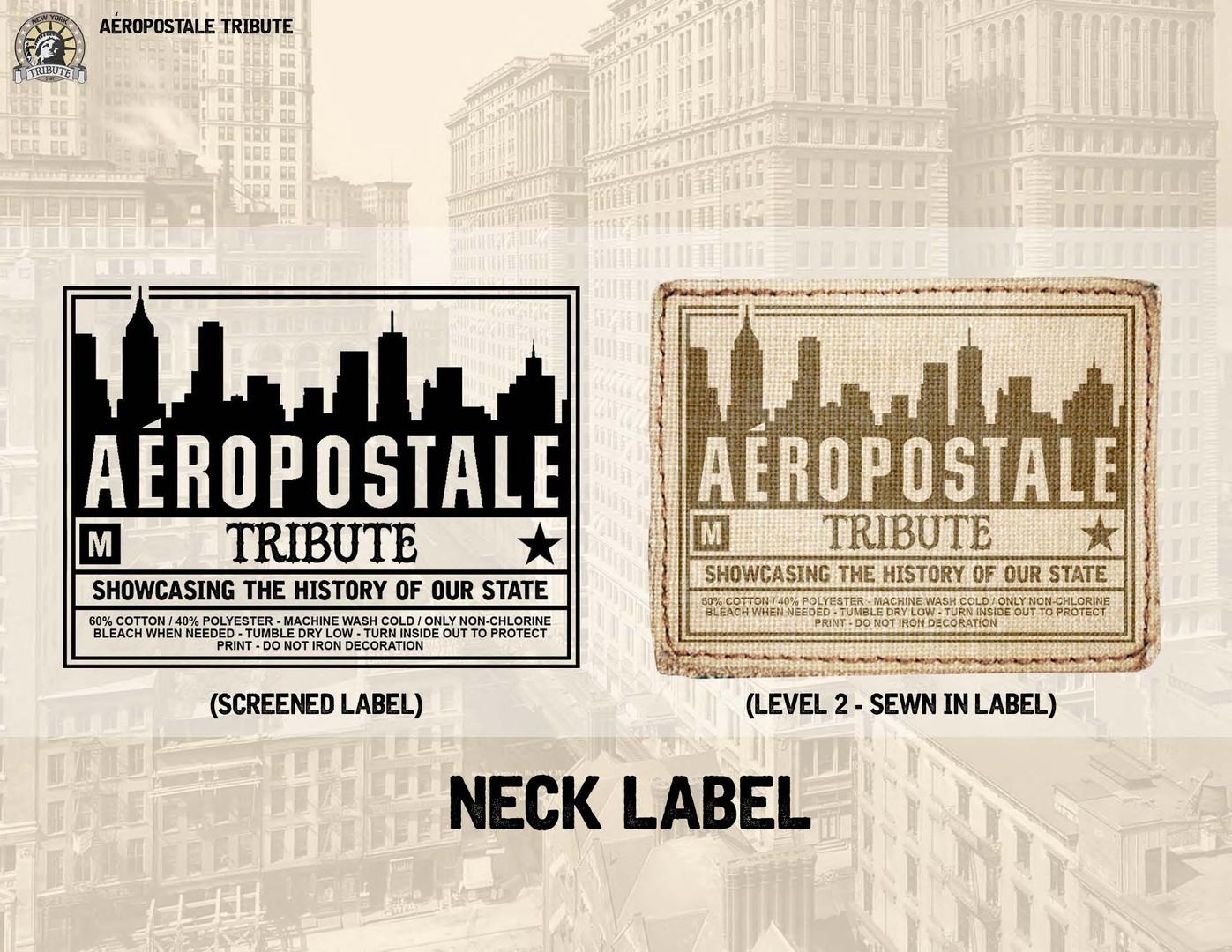 Sewn neck label design
