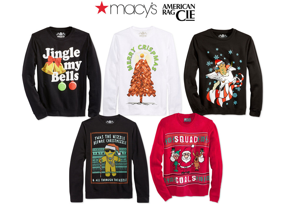 Holiday Graphic illustration for American Rag sold at Macy's.