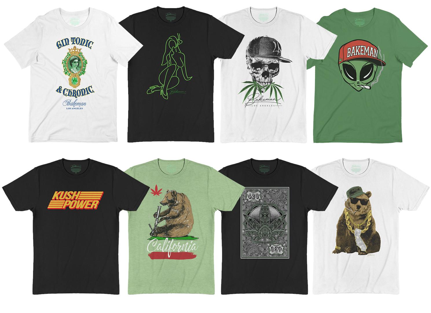 Art Direction & Graphic development for Bakeman Los Angeles brand sold online.
