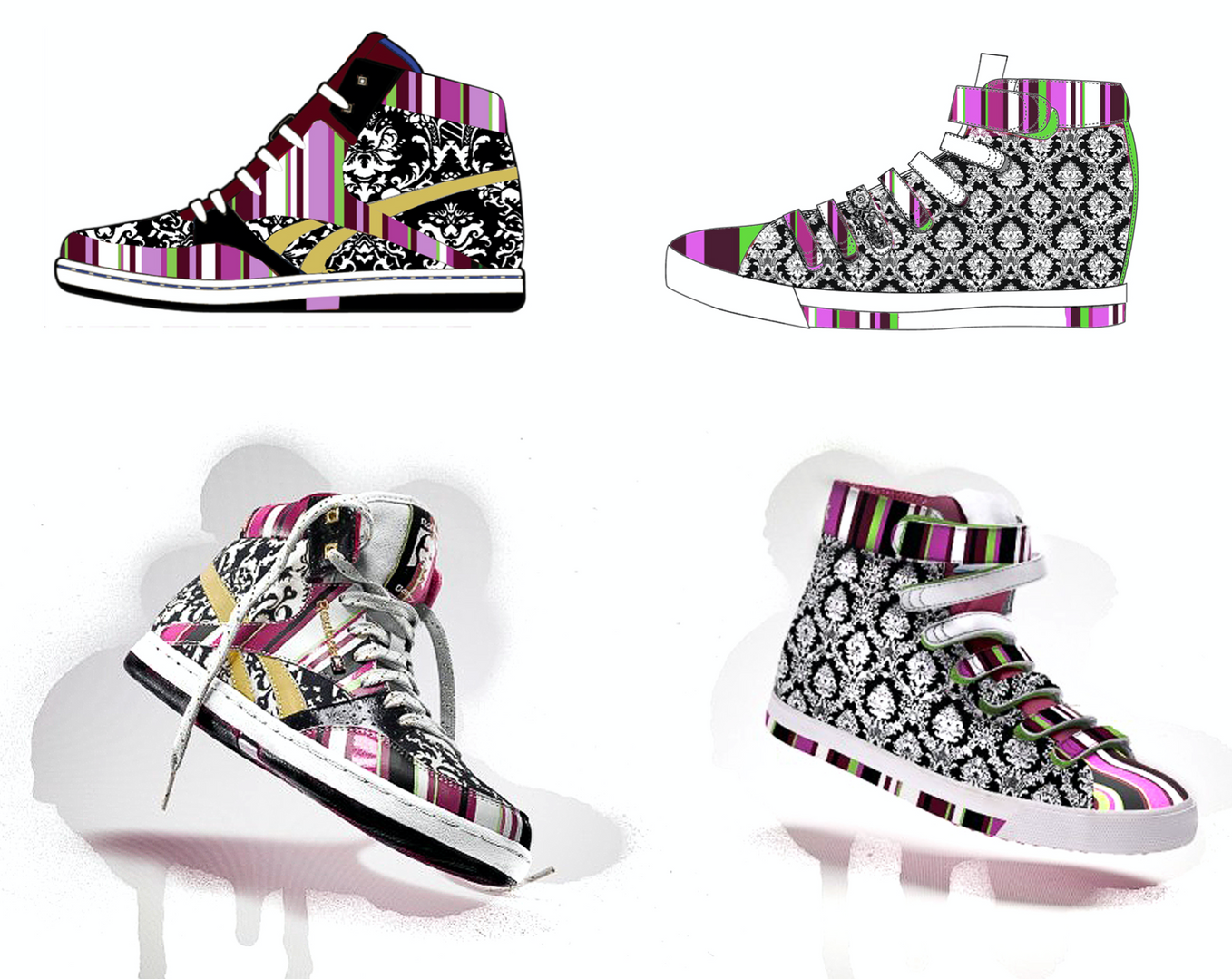Graphic development & technical design for Rolland Berry: Reebok