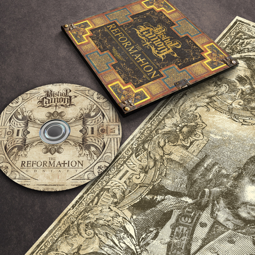 "Art Direction: CD digipak & poster package design for recording artist Bishop Lamont's 2016 album release, ""The Reformation: G.D.N.I.A.F.T"""