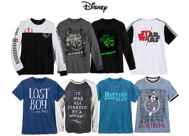 Men's graphic tops for Disney sold at Disney parks & resort and shopdisney.com