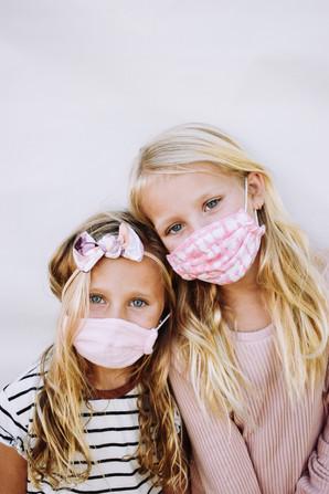 Kids Mask & Nylon Bow