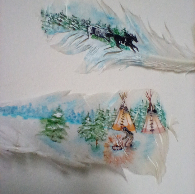 Painted Feather 008