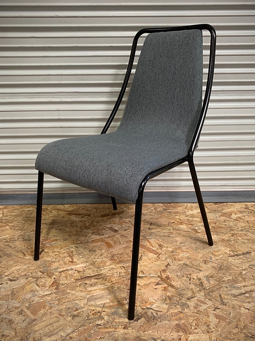 Copper Grove Sredets Black Metal and Fabric Chairs