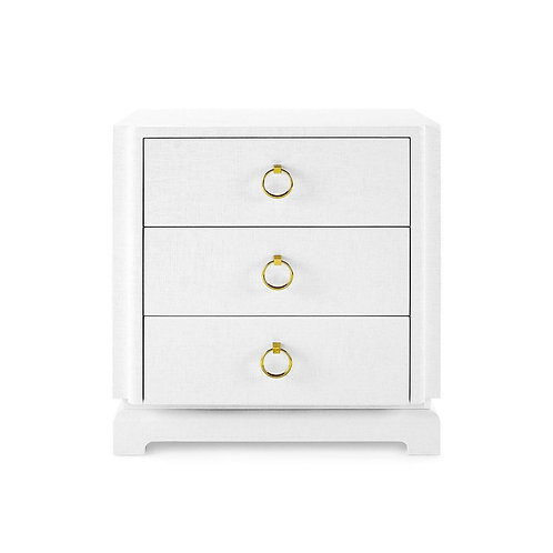 Bungalow 5 Pavel 3 Drawer Side Table - White