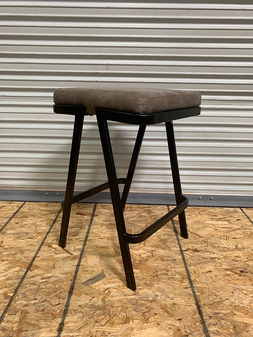 Leather brown barstool