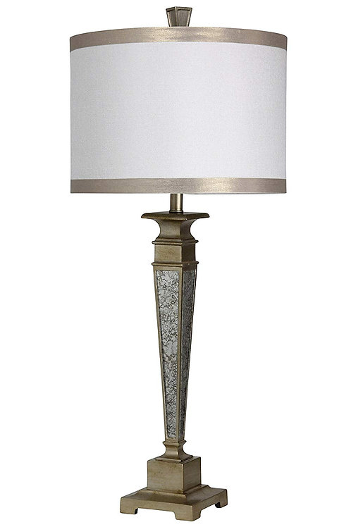 Stylecraft L42629 Traditional Table Lamp Mirror Accents, Imperial Silver