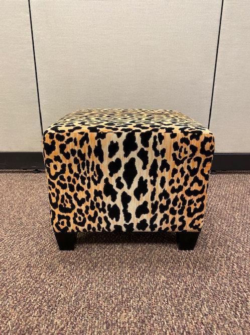 Small Cheetah Print Bench