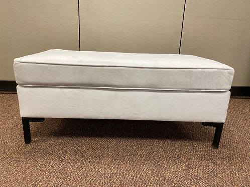 White Soft Fabric Bench