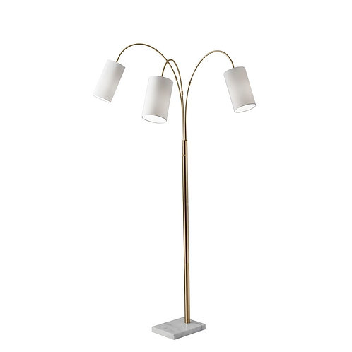 Adesso Tribeca Antique Brass Arc Lamp