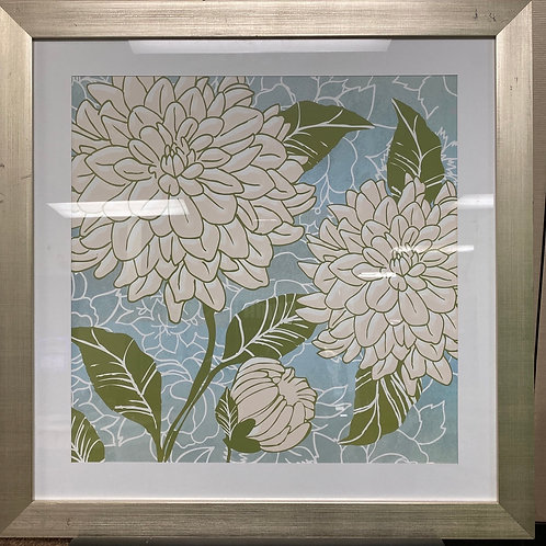 "Framed Floral Art 29""x29"""