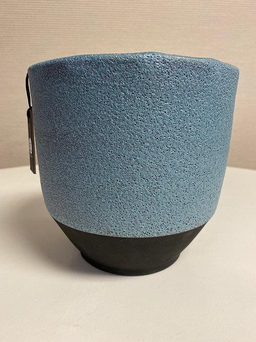 Large Denim Pot by Accent Decor