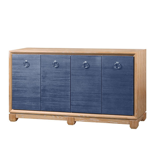 Arthur 4-Door Cabinet, Navy Blue