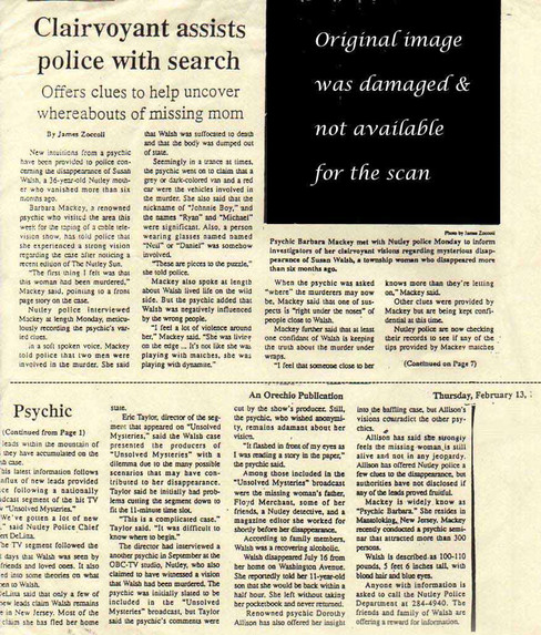 Clairvoyant assists police with search