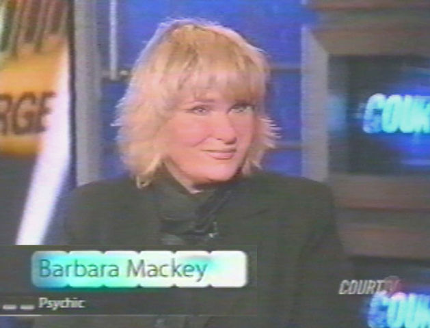 Psychic Barbara Mackey on Court TV