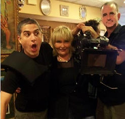 Barbara Mackey with her camera crew