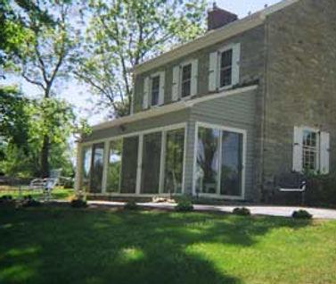 Dr. Samuel Kennedy's restored stone house.