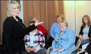 Psychic regales attendees at workshop