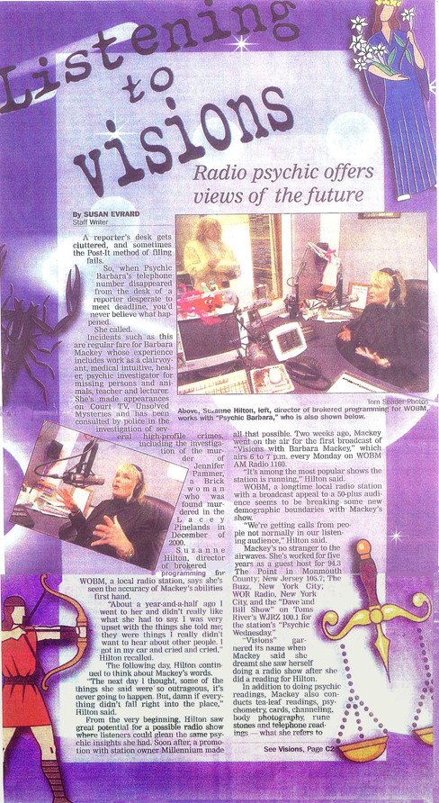 Listening to Visions: Radio psychic offers views of the future