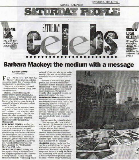 Barbara Mackey: the medium with a message