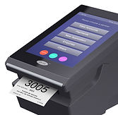 QMS touch screen ticket printer