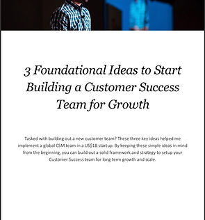 3 foundational ideas for customer success download