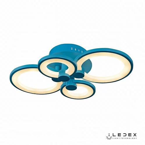 Потолочная люстра Ring A001/4 BLUE