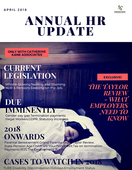 Annual Legislative Update 2018
