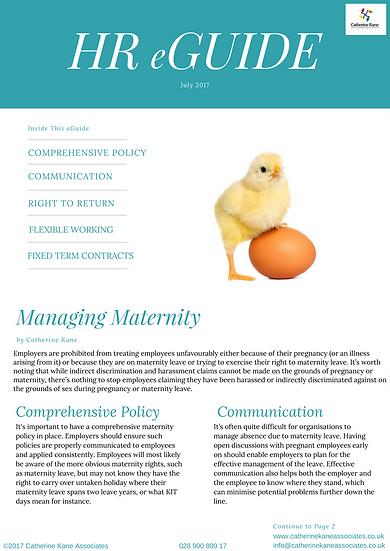 Managing Maternity
